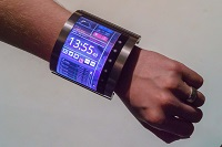 Bracelet made from a plastic LCD can wrap around your wrist