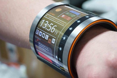 Flexible OLCD smartwatch