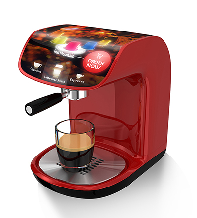 FlexEnable Coffee machine concept with OLCD