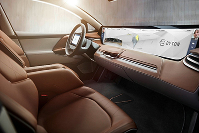 The need for large area flexible displays in automotive interiors ...