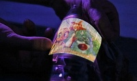 A fully flexible OLED display is now possible due to plastic electronics
